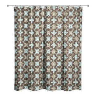 Hanchett Floral Pattern Single Shower Curtain