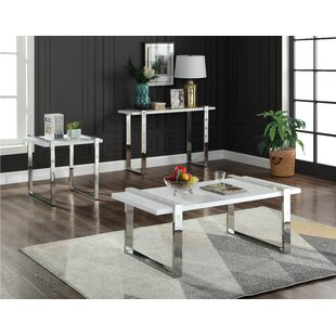 Everly Quinn Clem 3 Piece Coffee Table Set