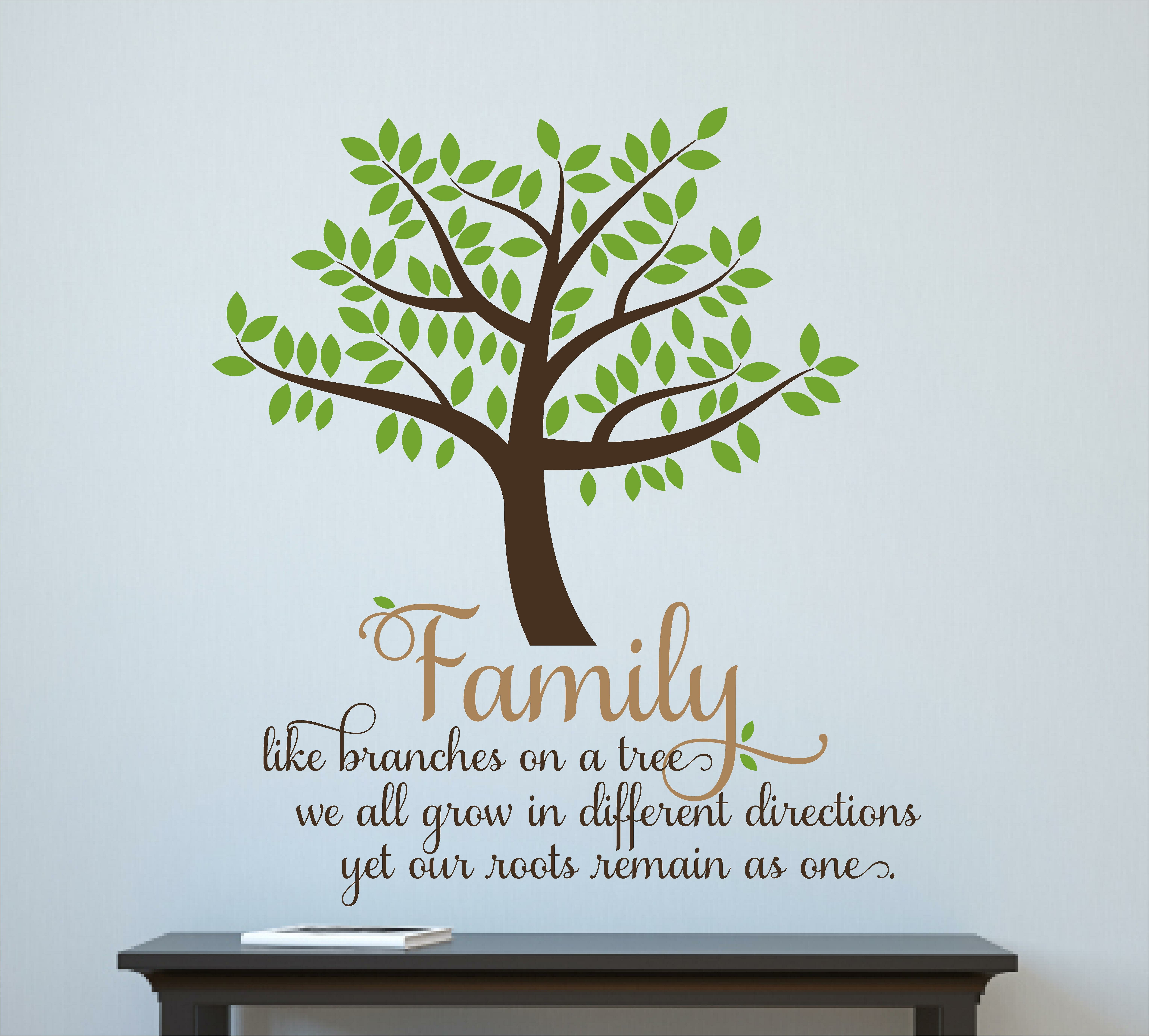 Enchantingly Elegant 'Family Like Branches on a Tree' Vinyl Letters Words  Home Wall Decal | Wayfair
