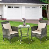 Addalynne Patio 3 Piece Bistro Set