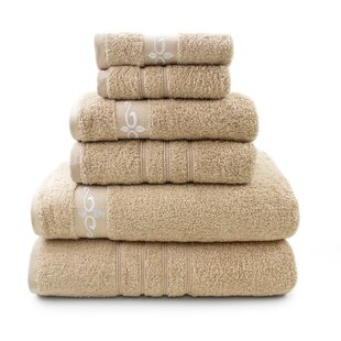 Wynkoop 6 Piece 100% Cotton Towel Set