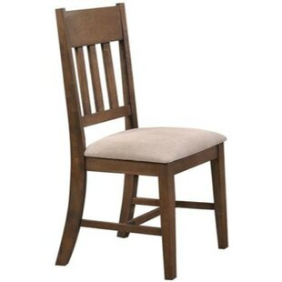 Jaqueline Solid Wood Dining Chair (Set of 2) Millwood Pines