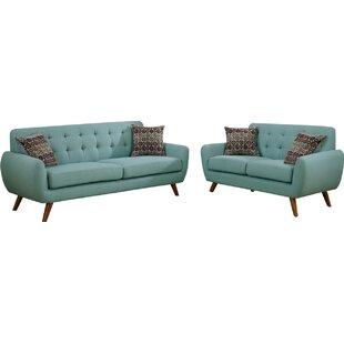 bice 2 piece living room set - Blue Living Room Sets