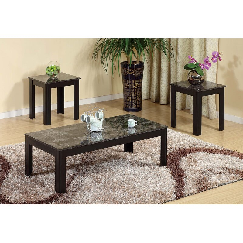 Ebern Designs Romel Creative 3 Piece Coffee Table Set Wayfair