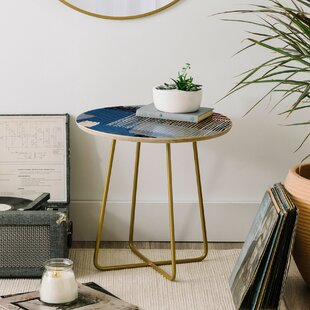 Ninola Design Abstract Striped Geo End Table by East Urban Home