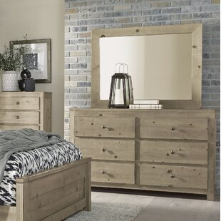Gracie Oaks Latricia 6 Drawer Double Dresser with Mirror Image