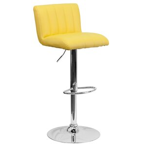 Alandra Adjustable Height Swivel Bar Stool by Wade