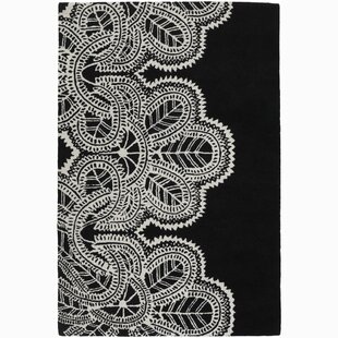 Areyanna Cactus Hand-Tufted Wool Black/White Area Rug By Bungalow Rose