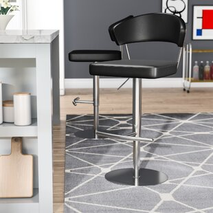 Kerry Adjustable Height Swivel Bar Stool Wade Logan