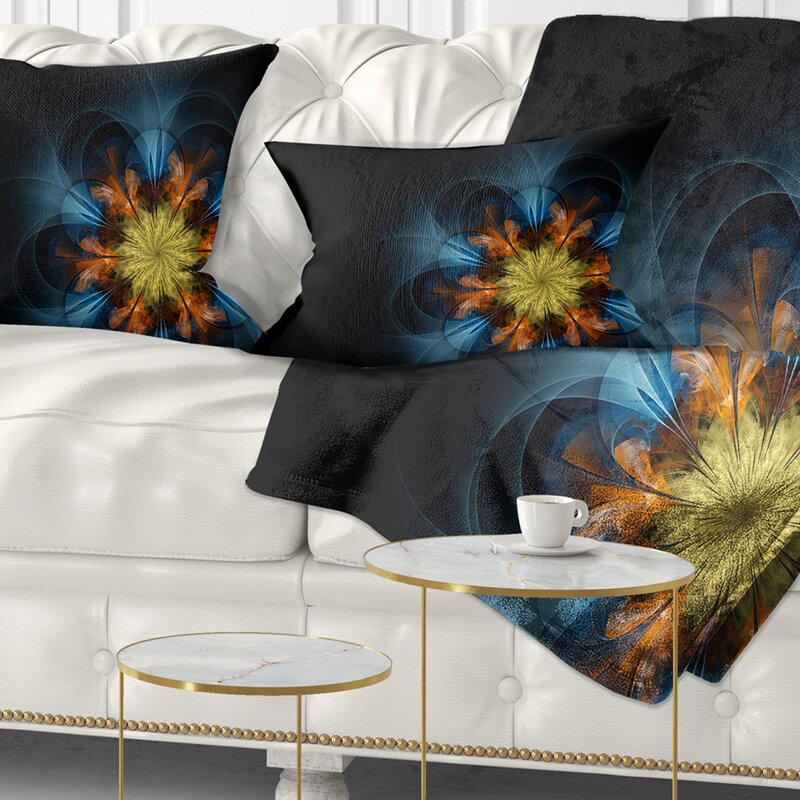 East Urban Home Abstract Symmetrical Fractal Flower Lumbar Pillow Wayfair