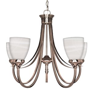 Yardley 5-Light Shaded Chandelier by Charlton Home