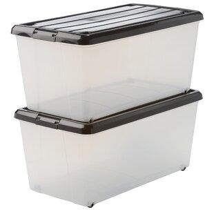 Carry Stocker Plastic Storage Box (Set Of 2) By Symple Stuff