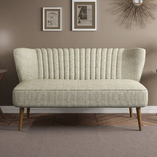 Jorgen Mid Century Vertically Channeled Settee