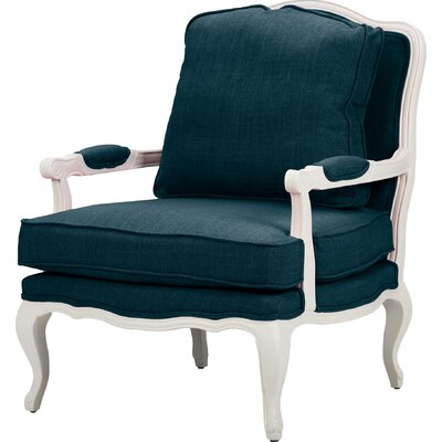 Aadi Armchair Upholstery Color: Azure, Leg Color: White by One Allium Way