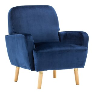 Whitten Rounded Cushioning Armchair by George Oliver