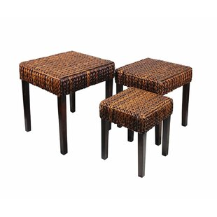 Stradley Rattan 3 Piece Side Table Set
