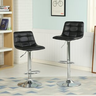 Iacovelli Adjustable Height Swivel Bar Stool