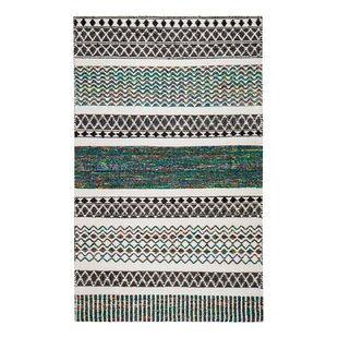 Flatweave Hand-Loomed Gray/Blue Area Rug ByBungalow Rose
