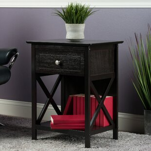 Compare prices Bone End Table with Storage By Charlton Home