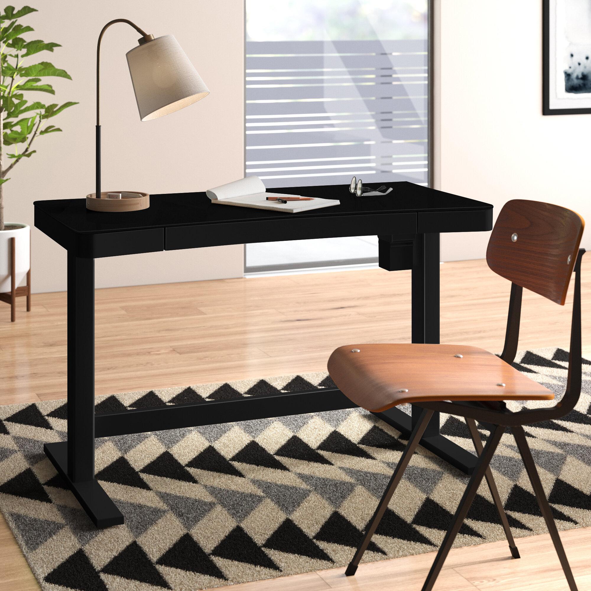 Picture of: Clarke Height Adjustable Standing Desk Reviews Allmodern