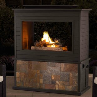 Sunjoy Steel Gas Fireplace