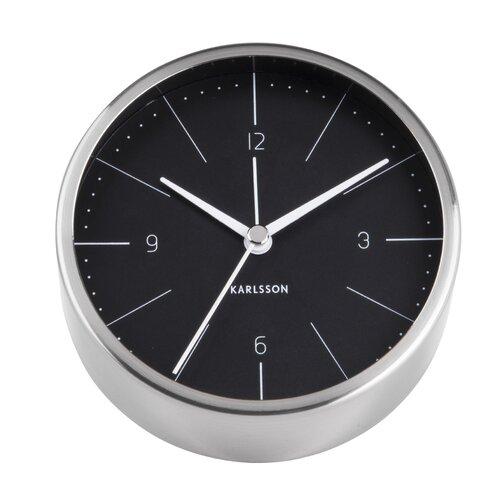 Tischuhr Normann 10 cm   Dekoration > Uhren > Standuhren   Silber/schwarz   Karlsson