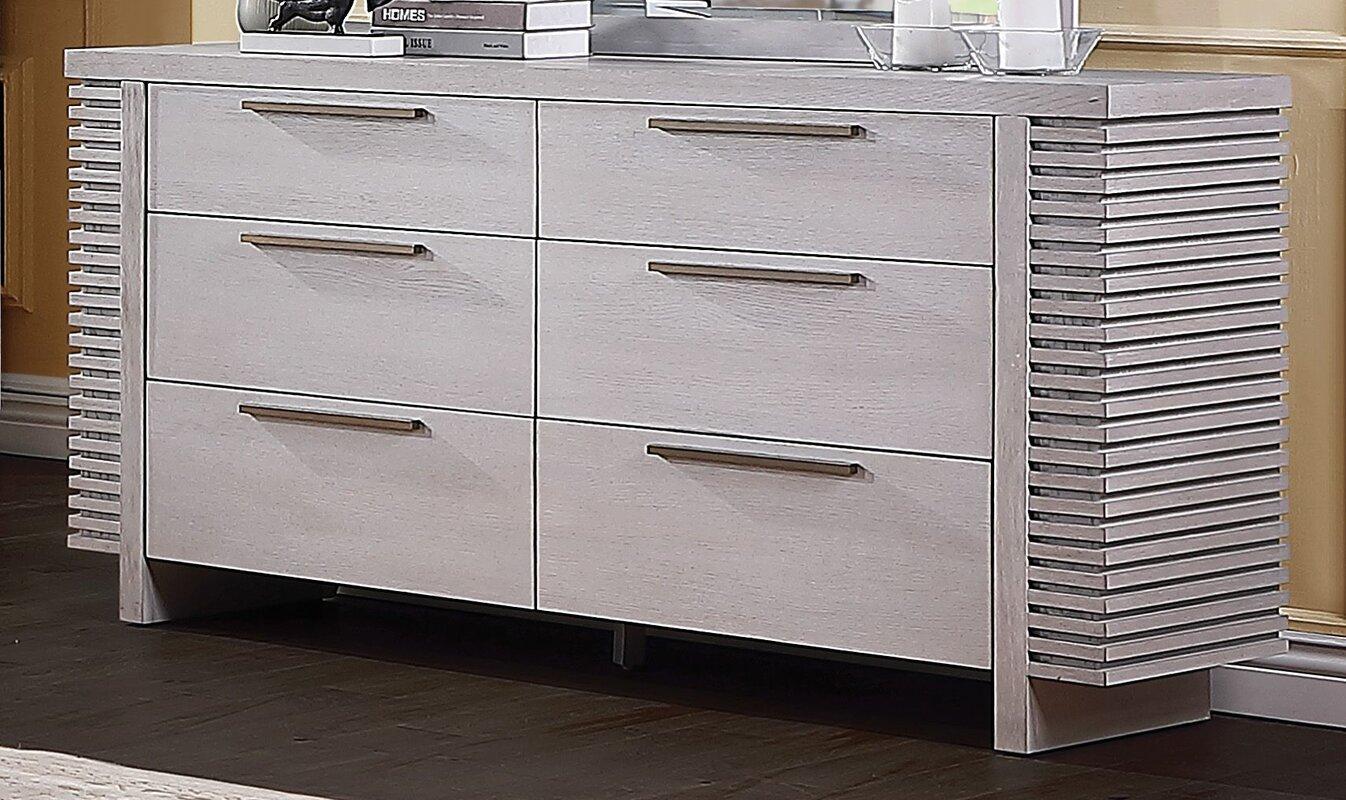 Orren Ellis Atwood 6 Drawer Double Dresser