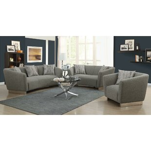 Rivet 3 Piece Living Room Set by Orren Ellis