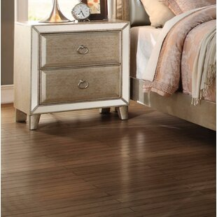 Arin 2 Drawers Wood Nightstand