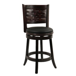 Ansari 24 Swivel Bar Stool by Alcott Hill Top Reviews