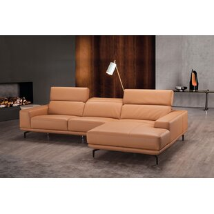 Piland Leather Reversible Sectional