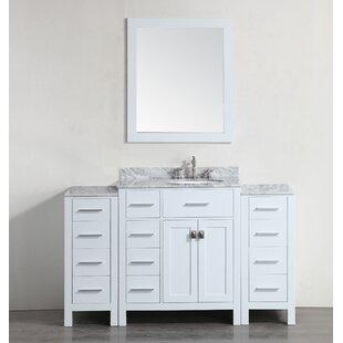Boykins 57 Single Bathroom Vanity Set with Mirror by Bosconi