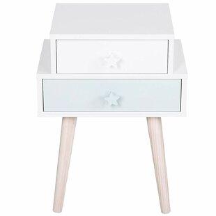 Review Feldman 2 Drawer Bedside Table