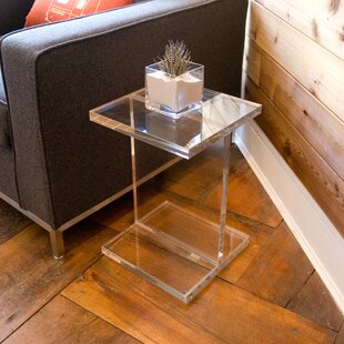 Comparison Acrylic I-Beam End Table By Gus* Modern