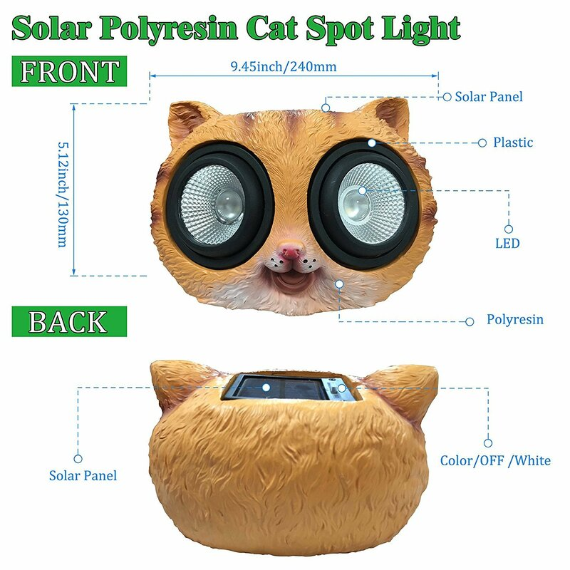 752b3e6cac5c Myfuncorp Cat Solar Color Changing Spot Light   Reviews