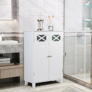 Karlovy 24 W x 34 H x 12 D FreeStanding Bathroom Cabinet by Red Barrel Studio