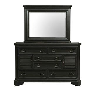 Darby Home Co Eloisee 6 Combo Dresser with Mirror