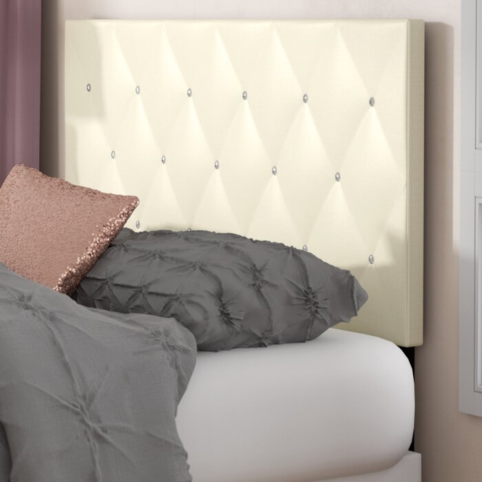 quality design 2ef0d 4d866 Areswell Crystal Diamond Upholstered Panel Headboard