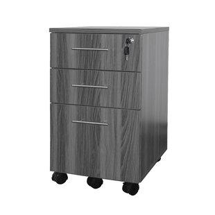 Mayline Group Medina Series 3-Drawer Mobile Vertical Filing Cabinet