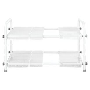 InterDesign Cabrini Under Sink 2 Tier Expandable Helper Shelf