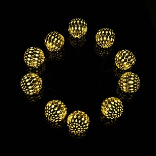 Bodnar 13.12 ft. 12-Light Shaded String Light by Bungalow Rose