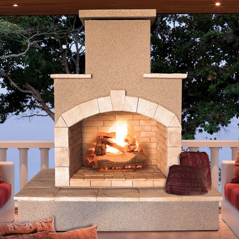 Cal Flame Steel Gas Outdoor Fireplace Wayfair