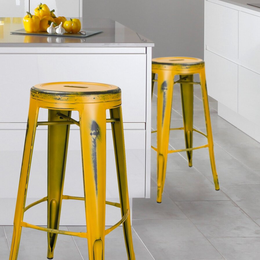 kitchen island bar stools gold wayfair