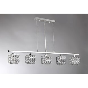 Canalou 5-Light Kitchen Island Pendant by House of Hampton