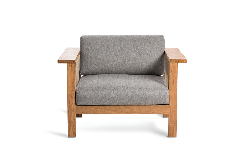Maro Teak Patio Chair With Cushions Allmodern