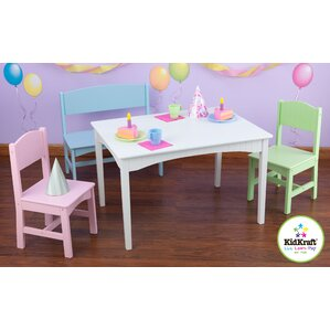 Nantucket Kids 4 Piece Table And Chair Set