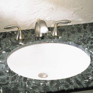American Standard Ovalyn Ceramic Oval Undermount Bathroom Sink with Overflow