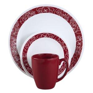 Livingware Bandhani 16 Piece Dinnerware Set, Service for 4