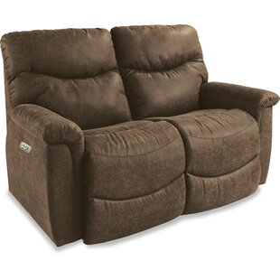 Shop James La-Z-Time® Power-Recline with Power Headrest Full Reclining Loveseat by La-Z-Boy