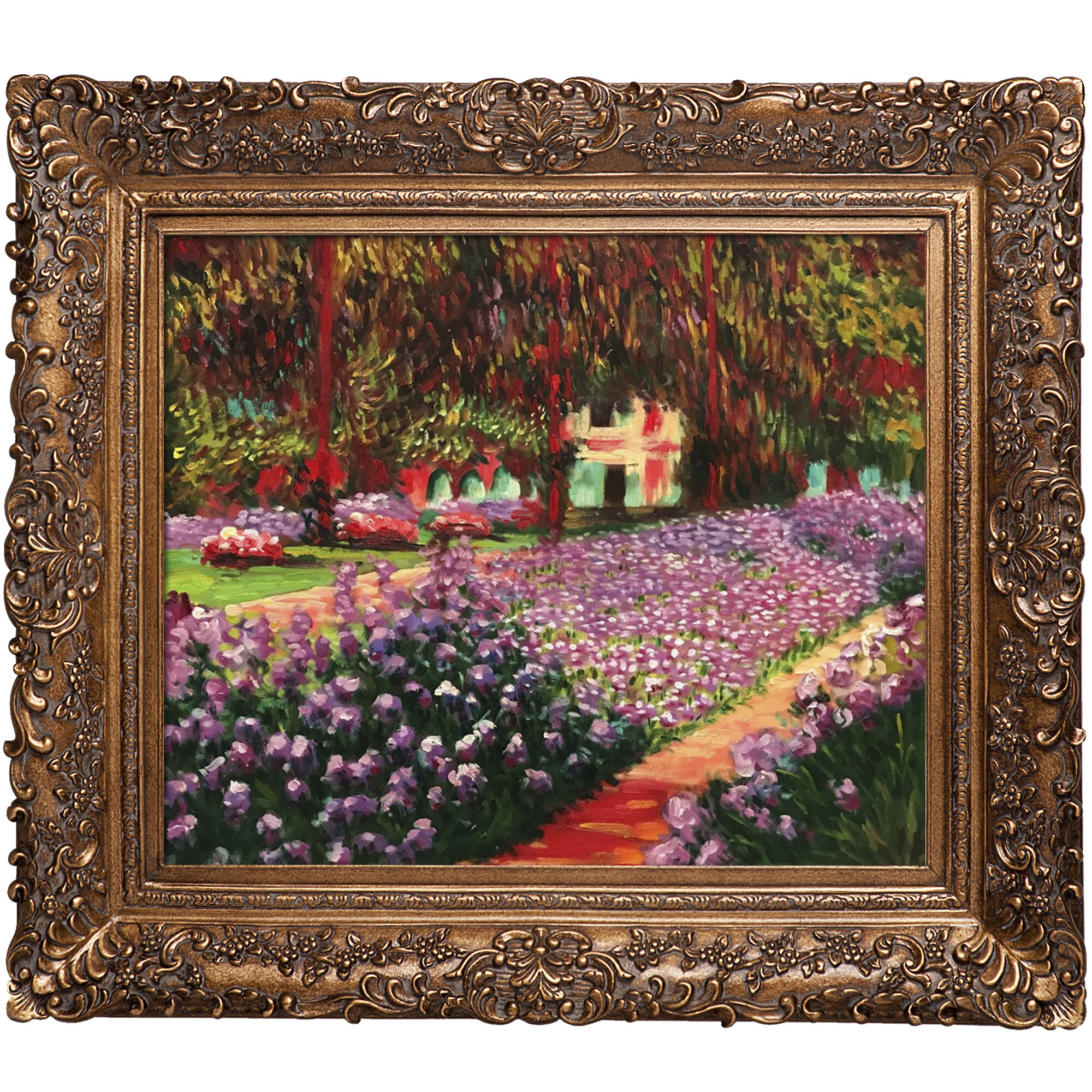 Tori Home \'Garden at Giverny\' by Claude Monet Oil Painting Print on ...